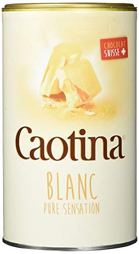 Caotina Blanc weiße Trinkschokolade - Kakao-Pulver für heiße Schokolade mit weißer Schweizer Schokolade - feinster Cacao nachhaltig und zertifiziert
