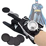 The Season Toys Kids Superhero Magic Gloves with Wrist Ejection Launcher, Black Bat