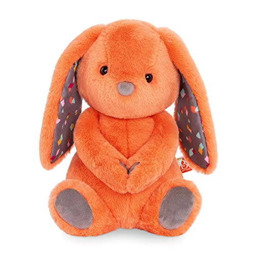 """B. toys – Plush Bunny – Super Soft Stuffed Animal – Orange – 12"""" – Washable Rabbit Toy – for Babies, Toddlers, Kids – Happy Hues – Coral Cutie – 0 Months +"""