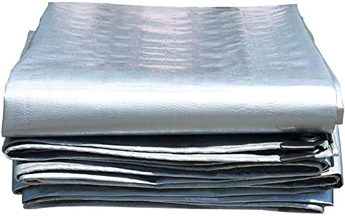 FFJD Toldos Arandelas De Lona para Carpa Y Bordes Reforzados Lona Impermeable Lona Resistente Toldo Carpa Barco RV O Cubierta De Piscina-5 × 8 M