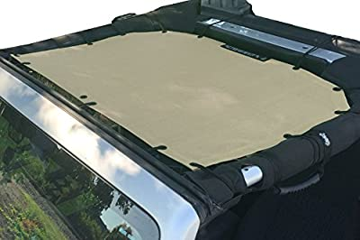ALIEN SUNSHADE Jeep Wrangler Bikini - Mesh Top Cover with 10 Year Warranty Provides UV Protection for Your 2-Door or 4-Door JK or JKU (2007-2017)