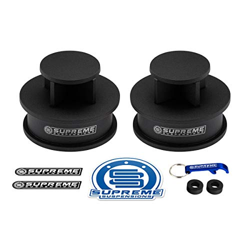 """Supreme Suspensions - Rear Leveling Kit for 2008-2012 Jeep Liberty KK 2"""" Rear Lift High-Strength Carbon Steel Spring Spacers 2WD 4WD PRO KIT"""