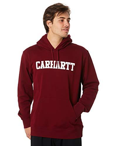 Carhartt Hooded College Sweat Sudadera con Capucha Burdeos para Hombre