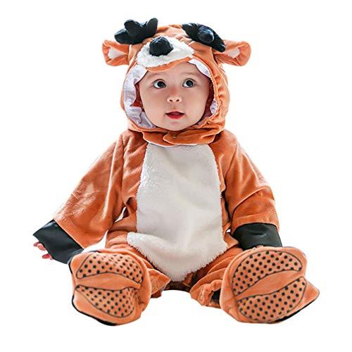 Disfraz Reno Bebe,Unisexo Infantil Pyjamas Cosplay Animales Traje Conjunto de Ropa Halloween Carnaval