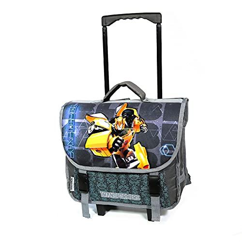 Transformers Bumblebee - Cartella con ruote, 38 cm, colore: Grigio