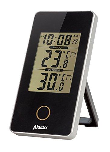 Alecto WS-150 WS-150 Weerstation voor binnen en buitensensor, temperatuur, hygrometer, zwart, 6,2 x 10 x 10 cm