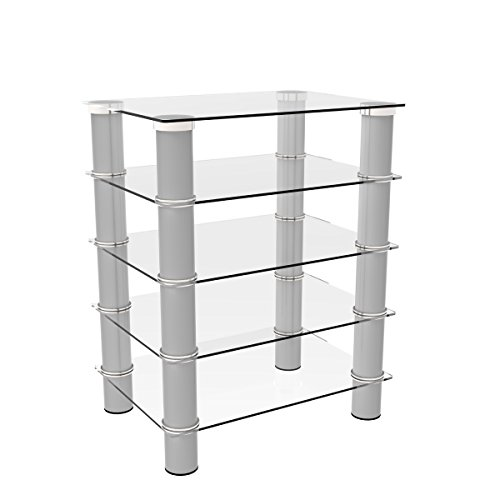Ryan Rove Hamlin Glass Component Stand in Silver