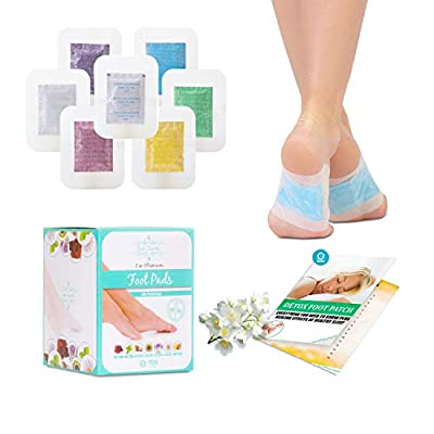 Sole Soothe Foot Pads Upgraded Premium 2 in1, 100% All Natural Foot Patches for Increased Energy, Deep Sleep, Anti-Stress, 7 Types -Ginger,Mint,Rose,Green Tea,Lavender,Coconut - 28 Counts (Box of 1) from Sole Soothe