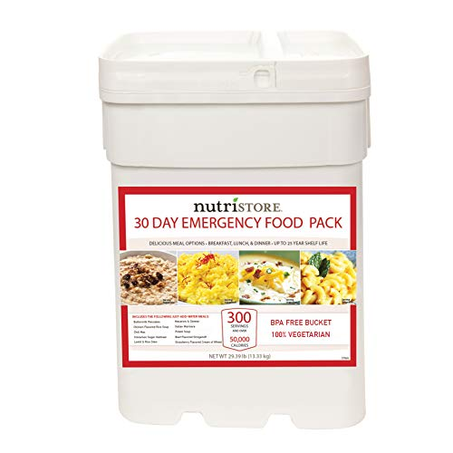 Nutristore Emergency 30 Day Food Supply | Breakfast, Lunch, Dinner | Premium Meals | MRE | Survival Kit | USA | 25 Year Shelf Life