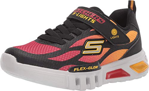 Skechers Kids Boy's Sport Lighted - Flex-Glow 400016L (Little Kid/Big Kid) Black/Red 12 Little Kid M