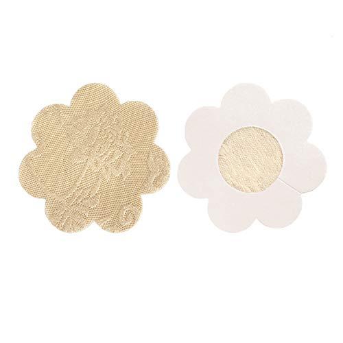 Tripetals 20 Paare Unsichtbare Nippelabdeckung Atmungsaktiv Einweg Brust Aufkleber Nippel Cover Nippelpads, Blütenblatt Blume Geformt