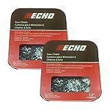 Echo Set of 2 OEM 12' Chainsaw Chain 45 DL 3/8' .050' 91PX45CQ