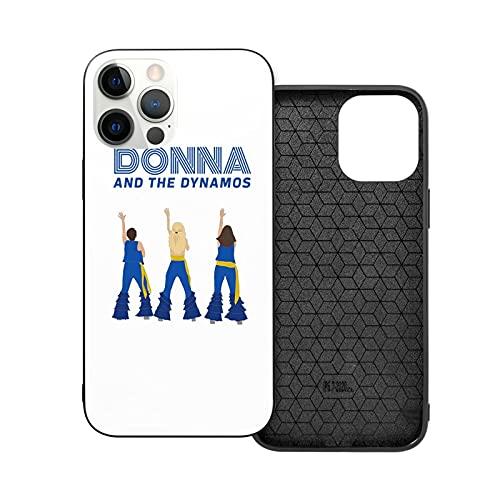 Compatible con iPhone 12/11 Pro MAX 12 Mini SE X/XS MAX XR 8 7 6 6s Plus Funda Donna and The Dynamos - Mamma MIA Here We Go Again Black Cajas del Teléfono Cover