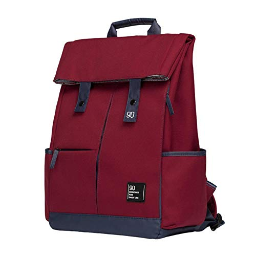BQP College Laptop Backpack Large Capacity Waterproof Men Knapsack Unisex Fashion Computer School Bag,burgundy
