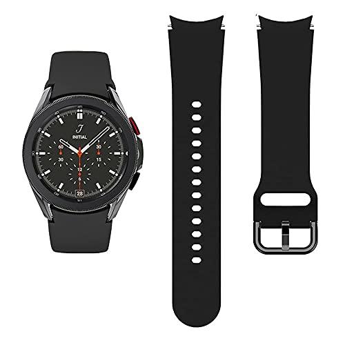 Apbands Kompatibel für Samsung Galaxy Watch 4 44mm 40mm/Galaxy Watch 4 Classic 42mm 46mm/Galaxy Watch 3 41mm/Galaxy Watch 42mm/Active 2 40mm 44mm, weiches Silikon Sportarmband 20mm Band