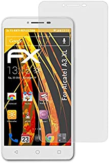atFoliX Skärmskydd är kompatibel med Alcatel A3 XL Skyddsfilm, antireflekterande och stötdämpande FX Film (3X)