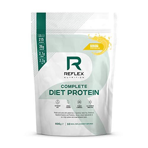 Reflex Nutrition Complete Diet Protein 600 G, Proteine In Polvere Sostitutive Del Pasto, Banana - 600 Gr