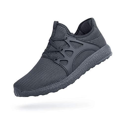 Feetmat Mens Walking Shoes Non Slip Knit Tennis Running Sneakers Slip Resistant Gym Athletic Shoes Fashion Sneakers Grey 13