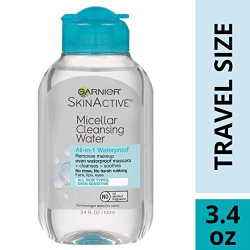 Garnier SkinActive Micellar Cleansing Water, For Waterproof Makeup, 3.4 Fl Oz