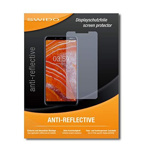 SWIDO Schutzfolie für Nokia 3.1 Plus [2 Stück] Anti-Reflex MATT Entspiegelnd, Hoher Festigkeitgrad, Schutz vor Kratzer/Bildschirmschutz, Bildschirmschutzfolie, Panzerglas-Folie