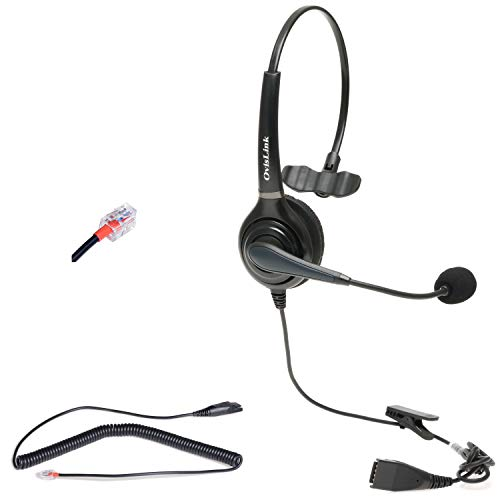 Avaya Headset for Avaya 1600, 9600 & J100 Series Phones | Corded Call Center Headset with Quick Disconnect Cord | Noise Canceling Microphone | Supreme Voice Quality All-Day