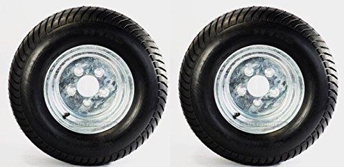 2-Pack Trailer Tire On Rim 20.5X8-10 205/65-10 20.5X8.0-10 5 Lug