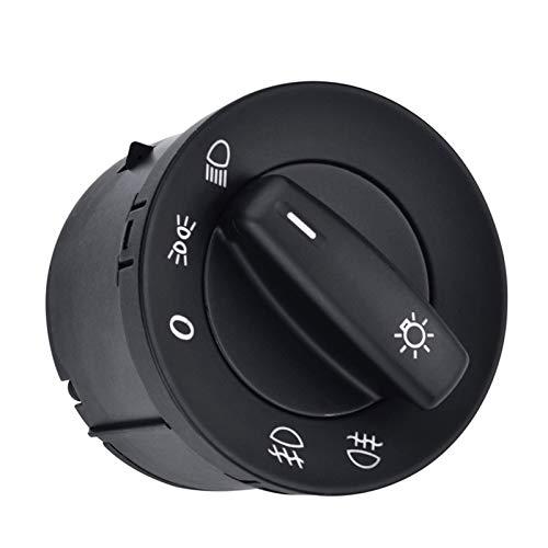Interruptor de luz para interruptor de faros delanteros, ajuste para VW Volkswagen Golf 5 6 Caddy Passat B6 B7 CC 1K0941431N Trim interior