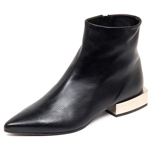 Vic Matie F5758 Tronchetto Donna Black Scarpe Vintage Effect Shoe Boot Woman [39]