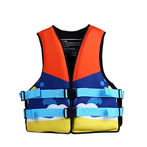 Chaquetas Y Chalecos Salvavidas Salvavidas Chaleco Flotador para Barcos NiñOs Bebes Infantil Kayak Surf de flotabilidad,Orange