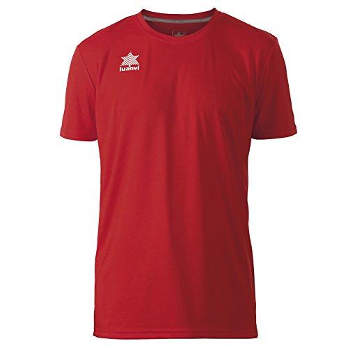 Luanvi Pol Camiseta de Deportes Manga Corta, Hombre, Rojo, XL