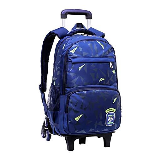 Meijunter Trolley Zaino di Scuola con Ruote - Borsa Scuola Handbag di Rotolamento per Kids Studenti Bambini Ragazzi Ragazze(Blu)