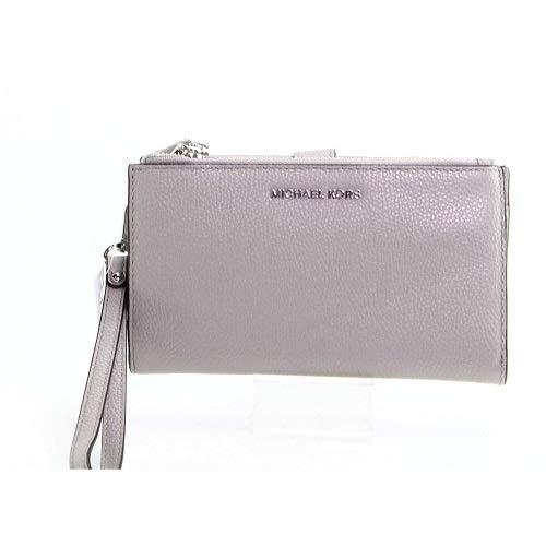 Michael Kors Damer Adele pebbled läder smartphone plånbok, pärlgrå, en storlek