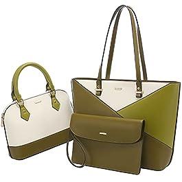 LOVEVOOK Lot de 3 sacs à main pour femme