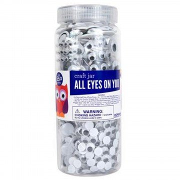 All Eyes on You Craft Embellishment Jar