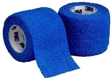 3M Coban vendaje autoadhesivo, azul, 2,5 cm de ancho x 4,5 m de largo