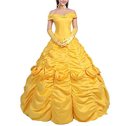 Bella vestido Carnaval Cosplay Mujer Dress Up Belle Woman Disfraz BEL001
