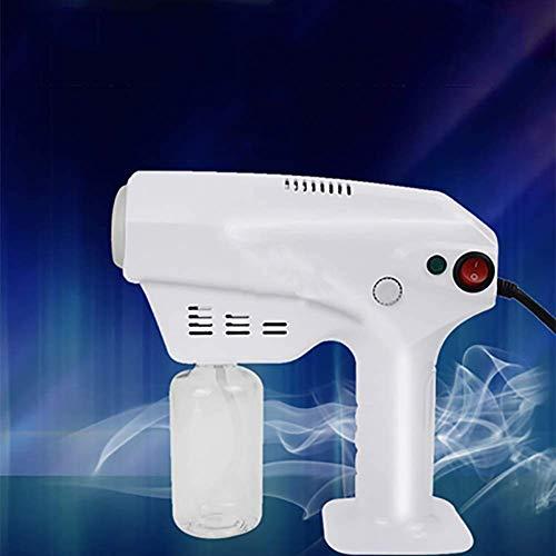 ZYLHC Pistolet à la main pulvérisateur portable Désinfection Pulvérisateur de bouteille de pulvérisateur 450 ml Nano Pulvérisateur bleu lumière Nano Pistolet à vapeur Spray Pulvérisation de cheveux mu