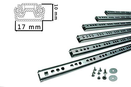 BRESKO 1 Paar (2 Stk.) 17 mm Schubladenschienen 25-50 cm Teilauszug Schubladenauszüge Kugelführung (500 mm)