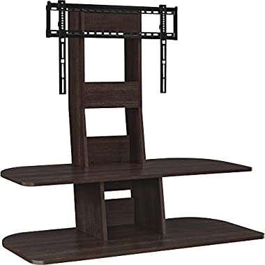 Ameriwood Home Galaxy TV Stand with Mount for TVs up to 65  Wide, Espresso