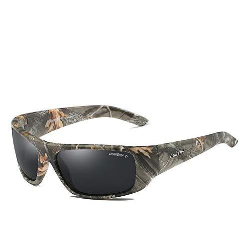 YaGFeng Radsport-Brillen Camouflage Sport Reiten Fischen Sonnenbrille Polarisierte Gläser Polarisierte Sonnenbrille Farbfilm Sportbrillen (Color : A1, Size : One Size)