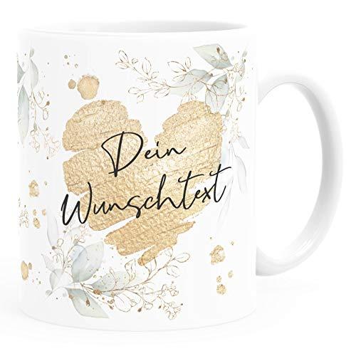SpecialMe® Kaffee-Tasse [Wunschtext] mit Herz - soziale Berufe, Familie, Freunde kleines Dankeschön Geschenk Danke sagen Personalisiert weiß Keramik-Tasse