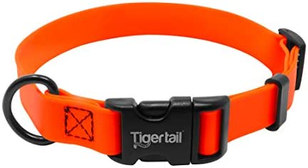 Tiger Tail Urban Nomad Dog Collar Lightweight Waterproof Odor Proof Dog Collar Extra Small Orange product image