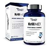 1MD KrillMD - Antarctic Krill Oil Omega 3 Supplement with Astaxanthin, EPA, DHA   2X More Effective Than Fish Oil   60 Lemon-Coated Softgels