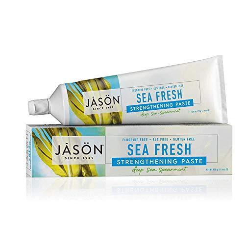 JASON Sea Fresh Strengthening Fluoride-Free Toothpaste, Deep Sea Spearmint,...