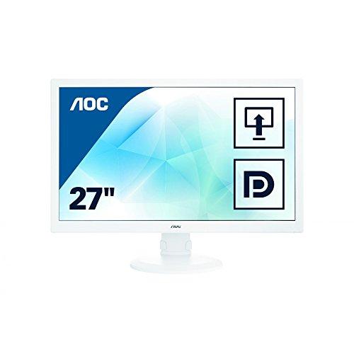 AOC i2770PQ 68,6 cm (27 Zoll) PLS-Monitor (VGA, DVI, HDMI, DisplayPort, 1920 x 1080, 60 Hz, Pivot) grau