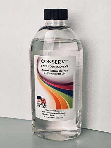 Conserv Safe Coin Solvent – 8 Ounce Bottle