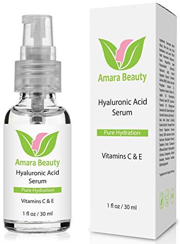 Ácido Hialurónico Suero para la Piel - Con Vitamina C & E - Best Natural & Orgánico Hidratante Rellena Vegano & Hidrata la Piel - Suero de Antienvejecimiento Rellena las líneas finas & arrugas para una piel más suave, piel suav