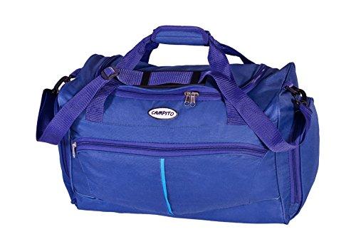 Kleine Elegante Damen-Sporttasche, Reisetasche (36 L) aus robustem 600D Polyester Fitness (Blau)
