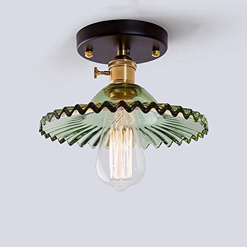 Plafonniers antiques en fer forgé, rétro simple LED en verre éclairage table à manger petits lustres plafonnier industriel allée bar balcon pendentif lumière (Design : B)