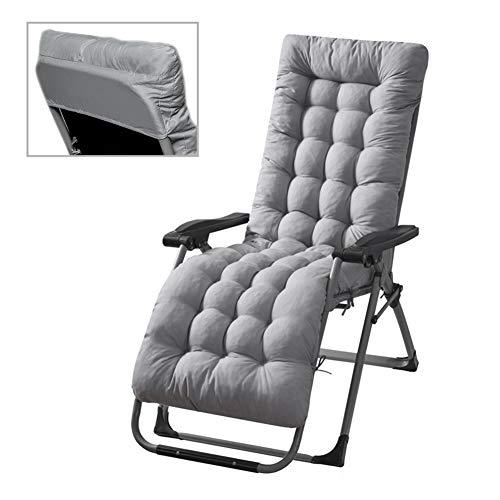 Stecto Cojines para tumbona, cojín de repuesto antideslizante suave para tumbona, cojín de repuesto para jardín, sillón reclinable para viajes, vacaciones, interior y exterior